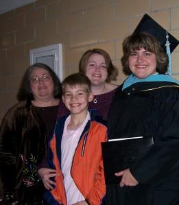 (L to R) My mother Kathy, nephew Brock, myself, and sister Stephanie