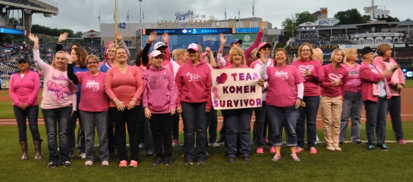 Komen Survivors at Royals Game