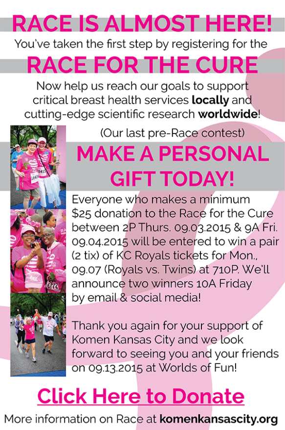 2015 Komen KC Fundraising Contest Email