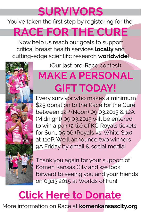 2015 Komen KC Survivor Contest Email