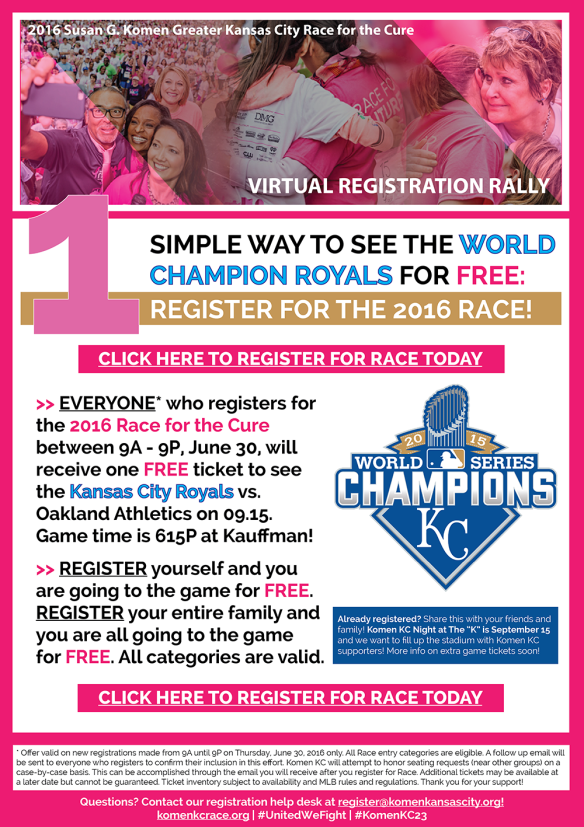 2016 Komen KC Race Contest - Registration 06-30
