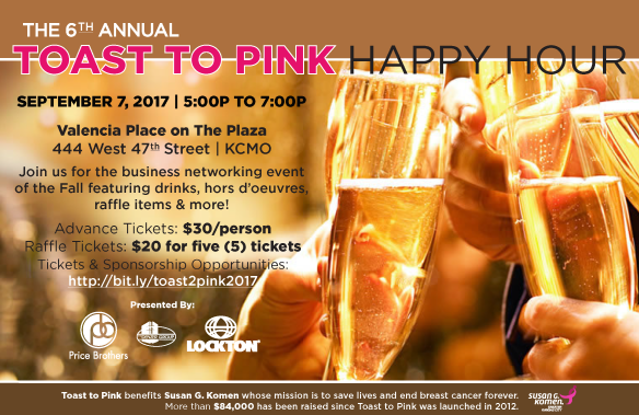 Join us for the 2017 Toast to Pink Happy Hour Revised White Logos