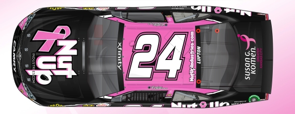 No. 24 NutUp Pink Toyota Layout - Single Shot